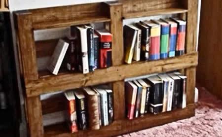 Estantería de libros Palets Reciclados