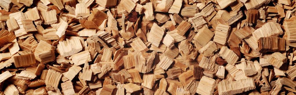 Biomasa con astillas de madera reciclada